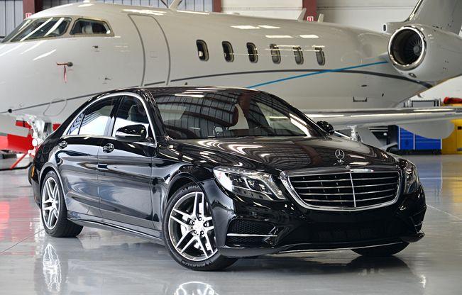 Executive vip transportation star transportation for Mercedes benz vip club black leather
